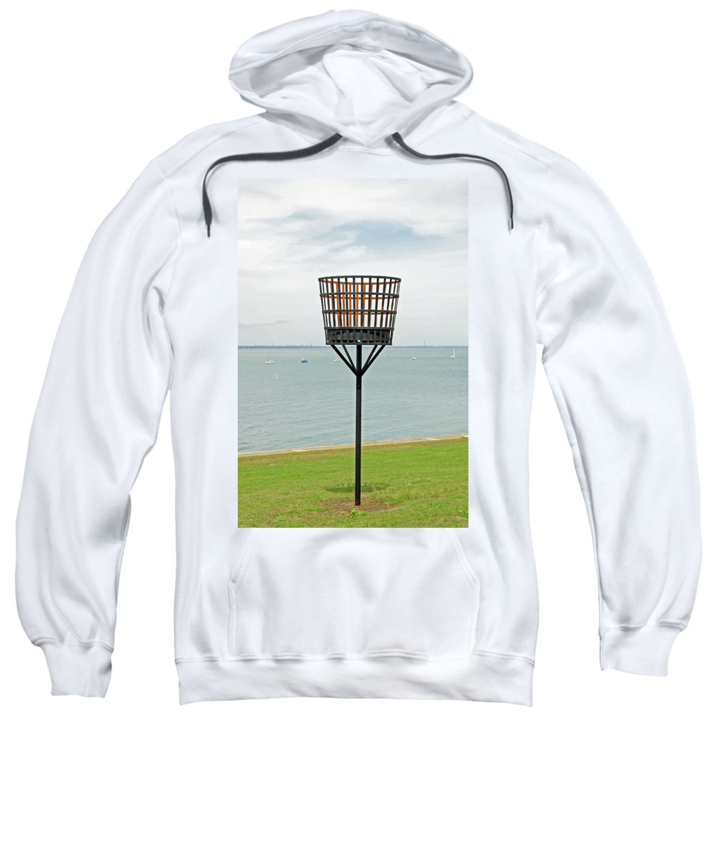 Yarmouth Sweatshirt featuring the photograph Beacon On Yarmouth Common by Rod Johnson