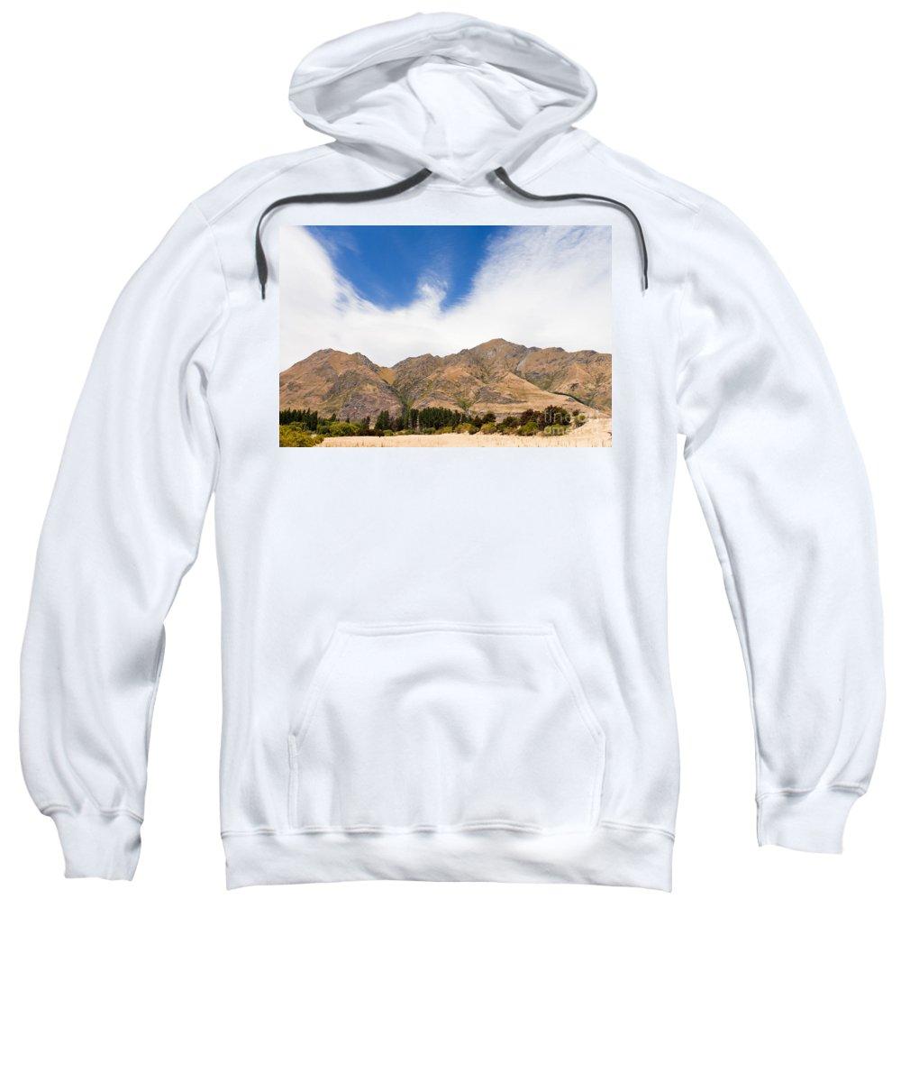 South Island Sweatshirt featuring the photograph Beautiful Roys Peak Near Wanaka In Southern Alps Of New Zealand by Stephan Pietzko