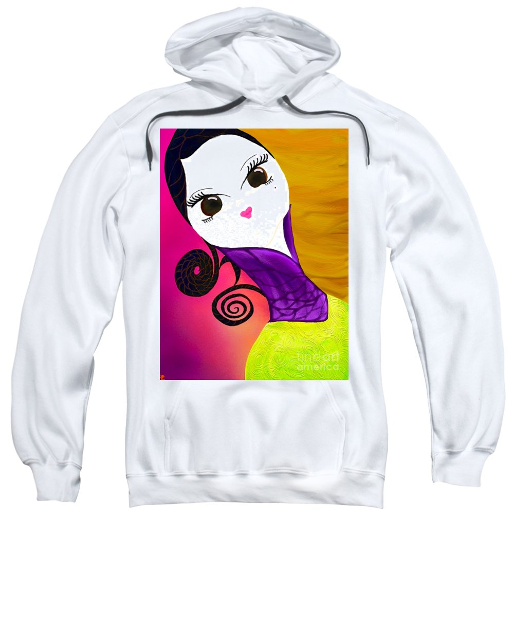 African-american Artist Sweatshirt featuring the painting Beauty 1.0 by Anita Lewis