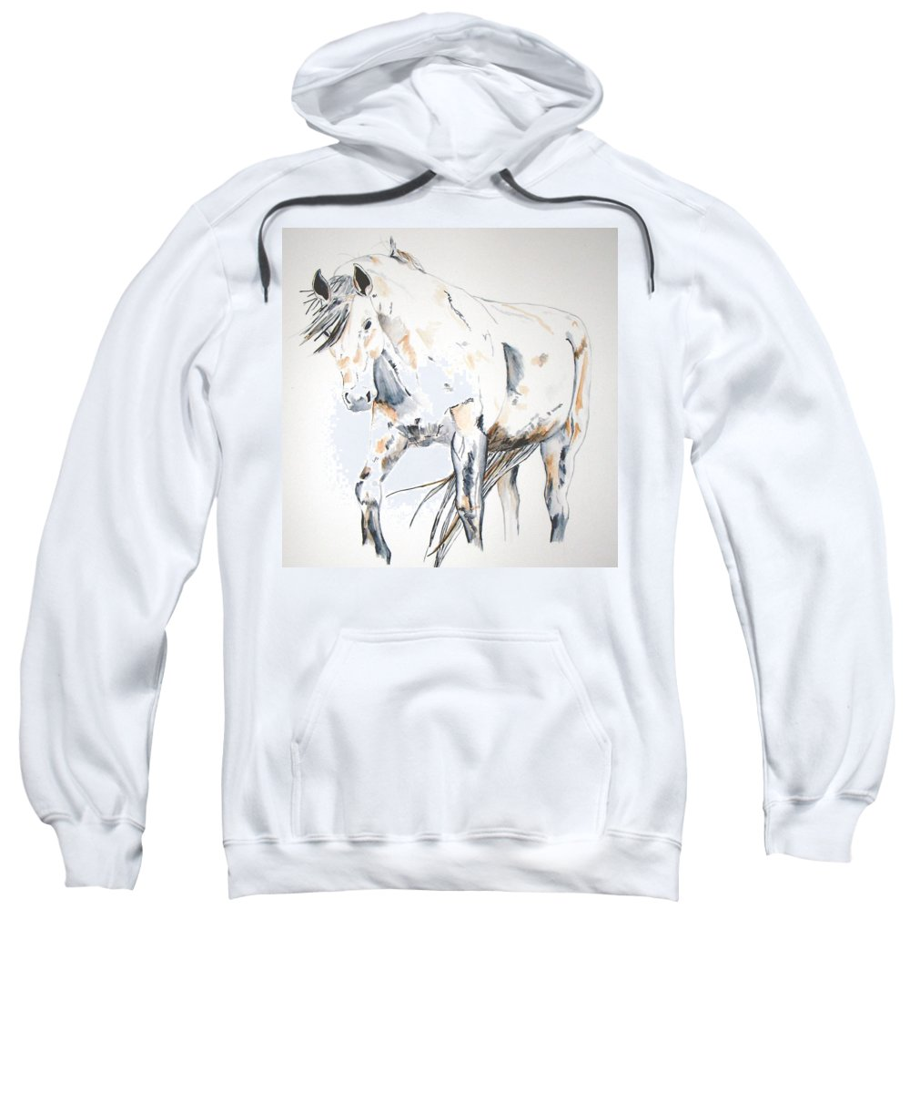 Horse Sweatshirt featuring the painting Beauty by Crystal Hubbard