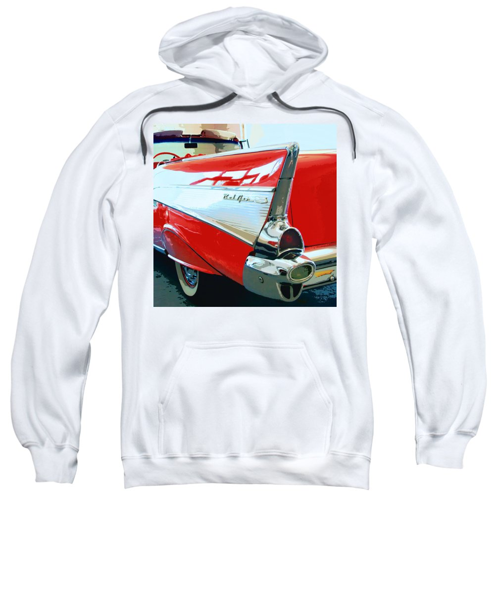 Vintage Cars Sweatshirt featuring the photograph Bel Air Palm Springs by William Dey