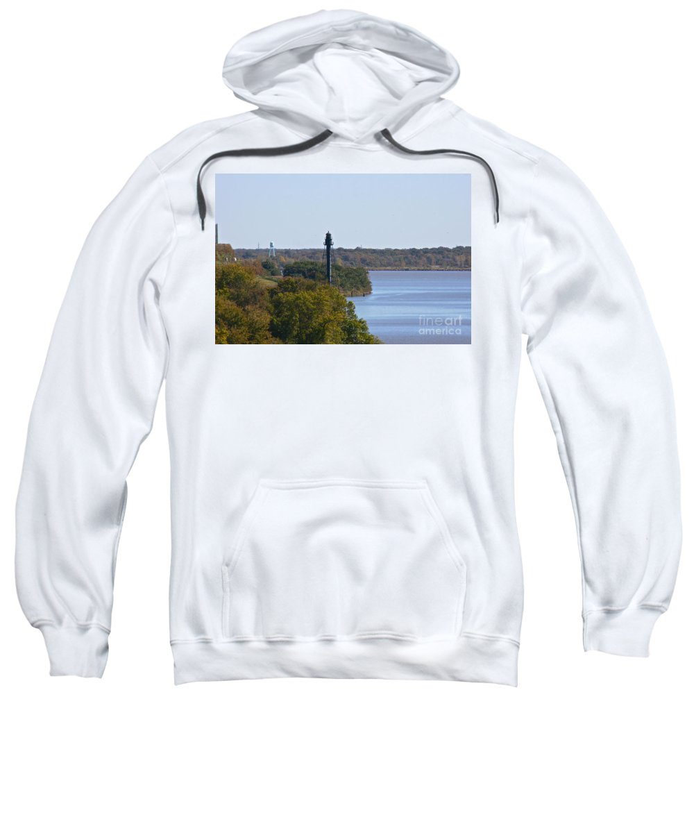 Bellevue Rear Range Lighthouse Sweatshirt featuring the photograph Bellevue Rear Range Lighthouse by Lori Amway