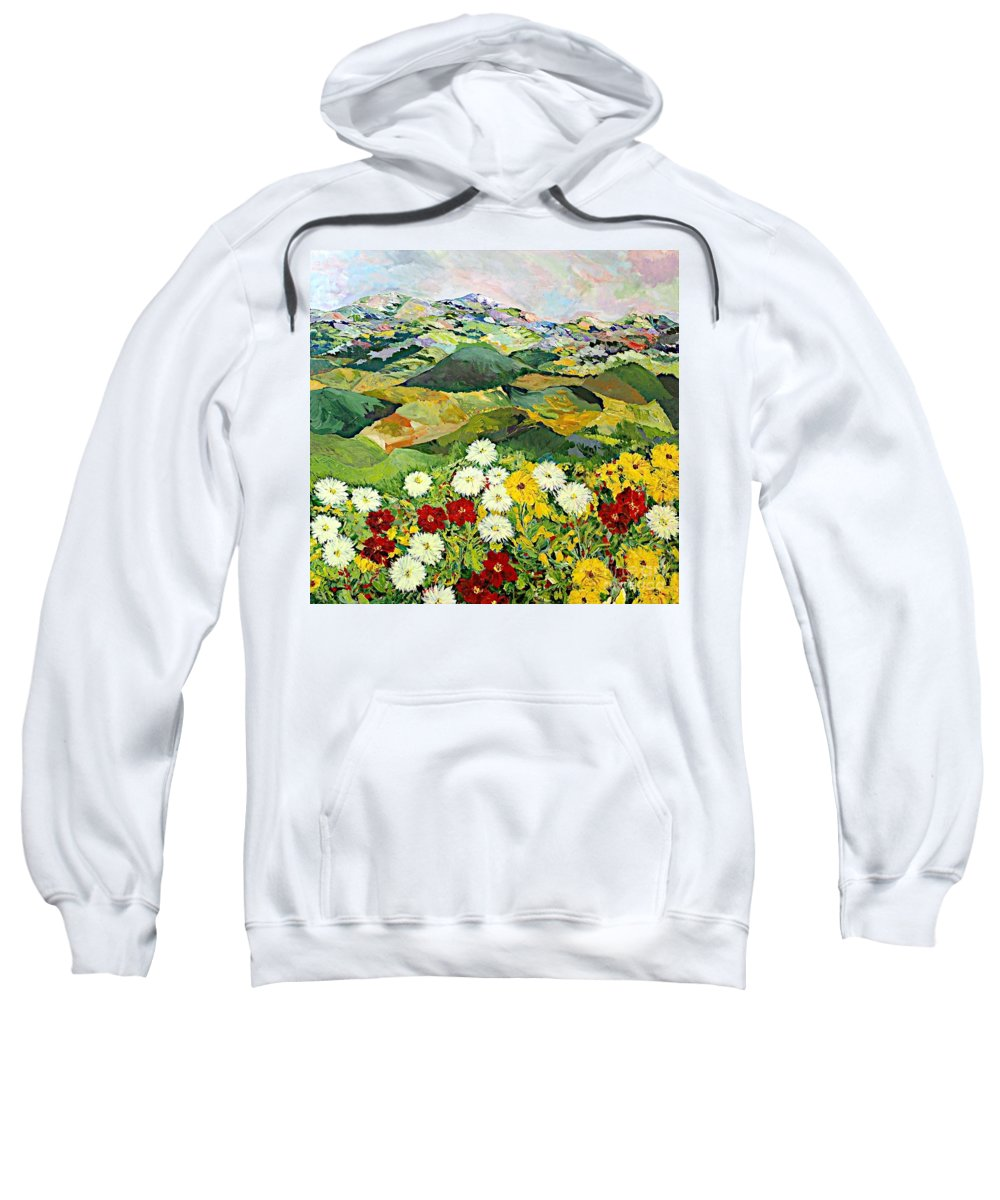 Landscape Sweatshirt featuring the painting Bewitching Twilight by Allan P Friedlander