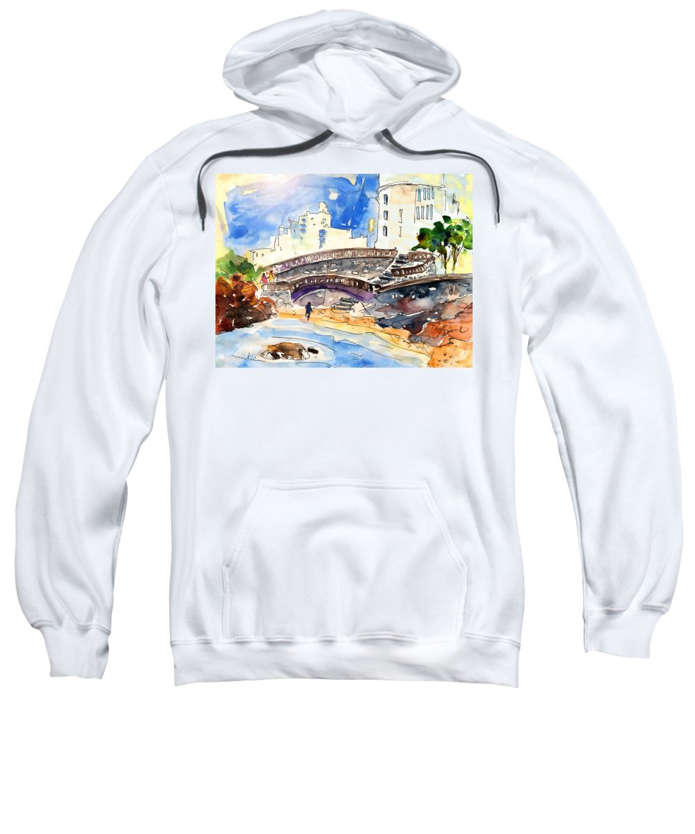 Travel Sweatshirt featuring the painting Biarritz 07 by Miki De Goodaboom