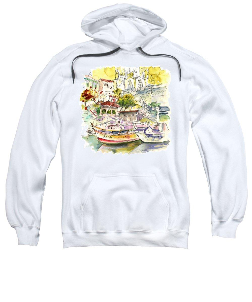 Travel Sweatshirt featuring the painting Biarritz 11 by Miki De Goodaboom