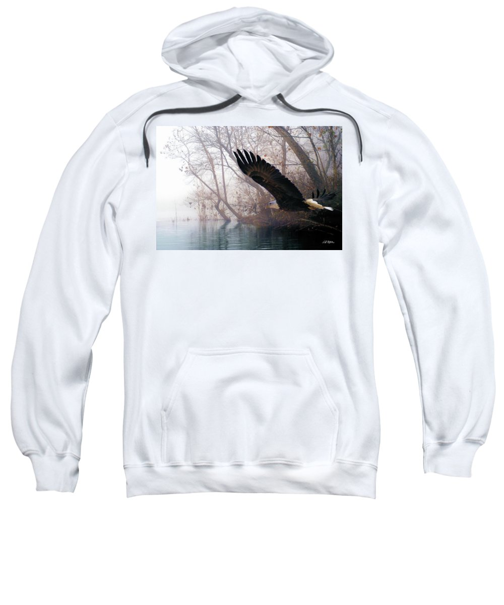 Eagles Sweatshirt featuring the mixed media Bilbow's Eagle by Bill Stephens