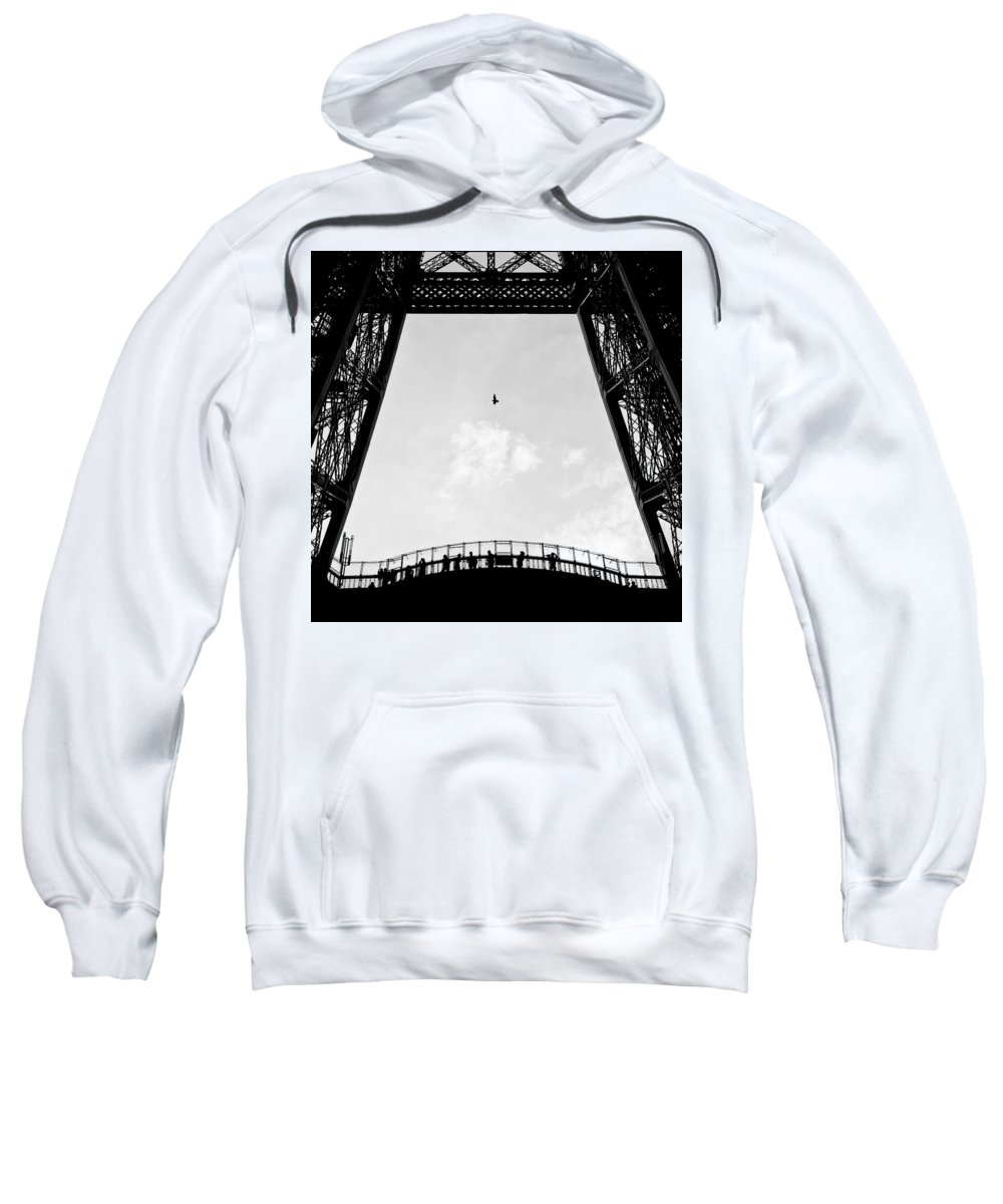 Eiffel Tower Sweatshirt featuring the photograph Birds-eye View by Dave Bowman