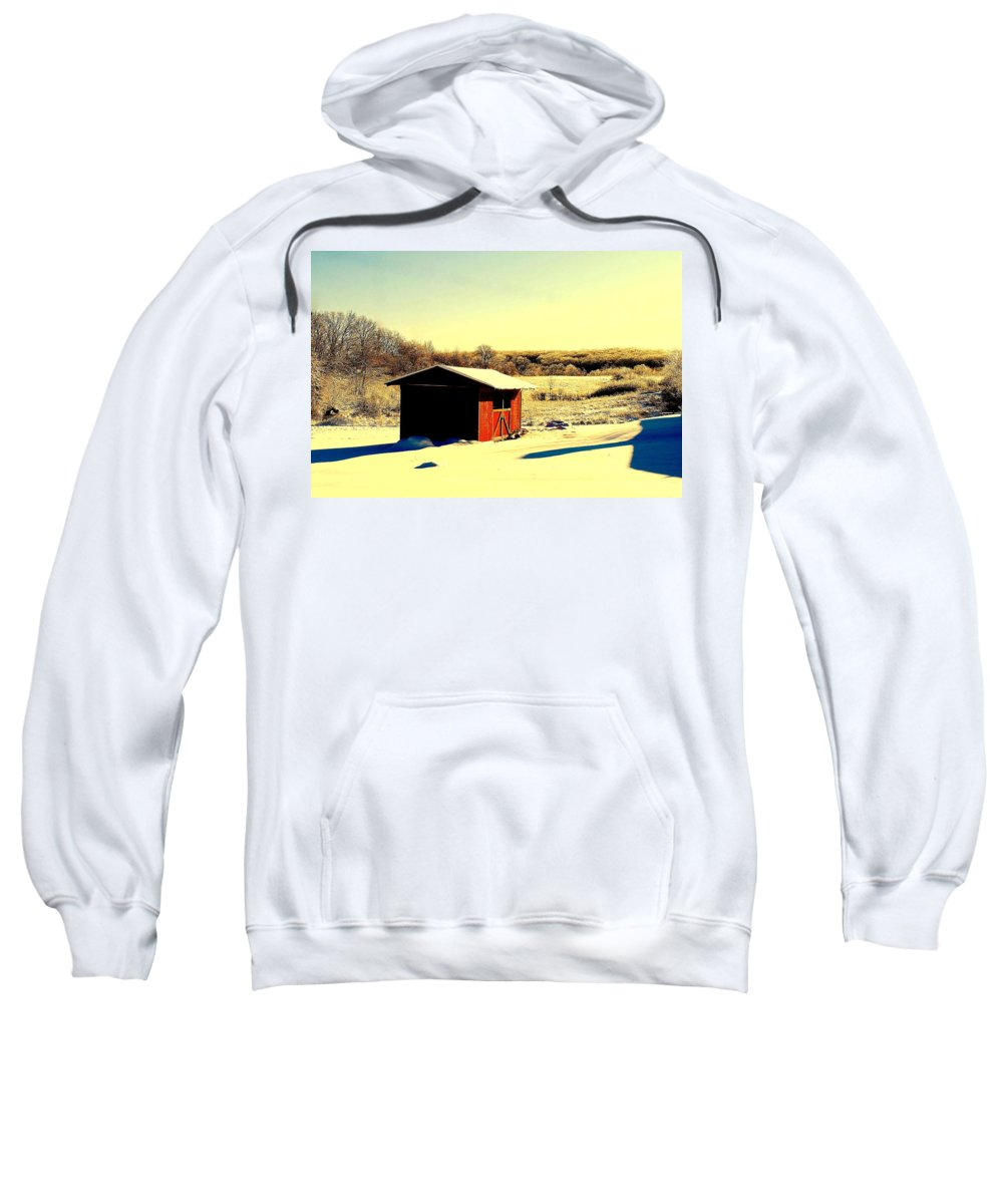 Black Sweatshirt featuring the photograph Black And Color by Frozen in Time Fine Art Photography