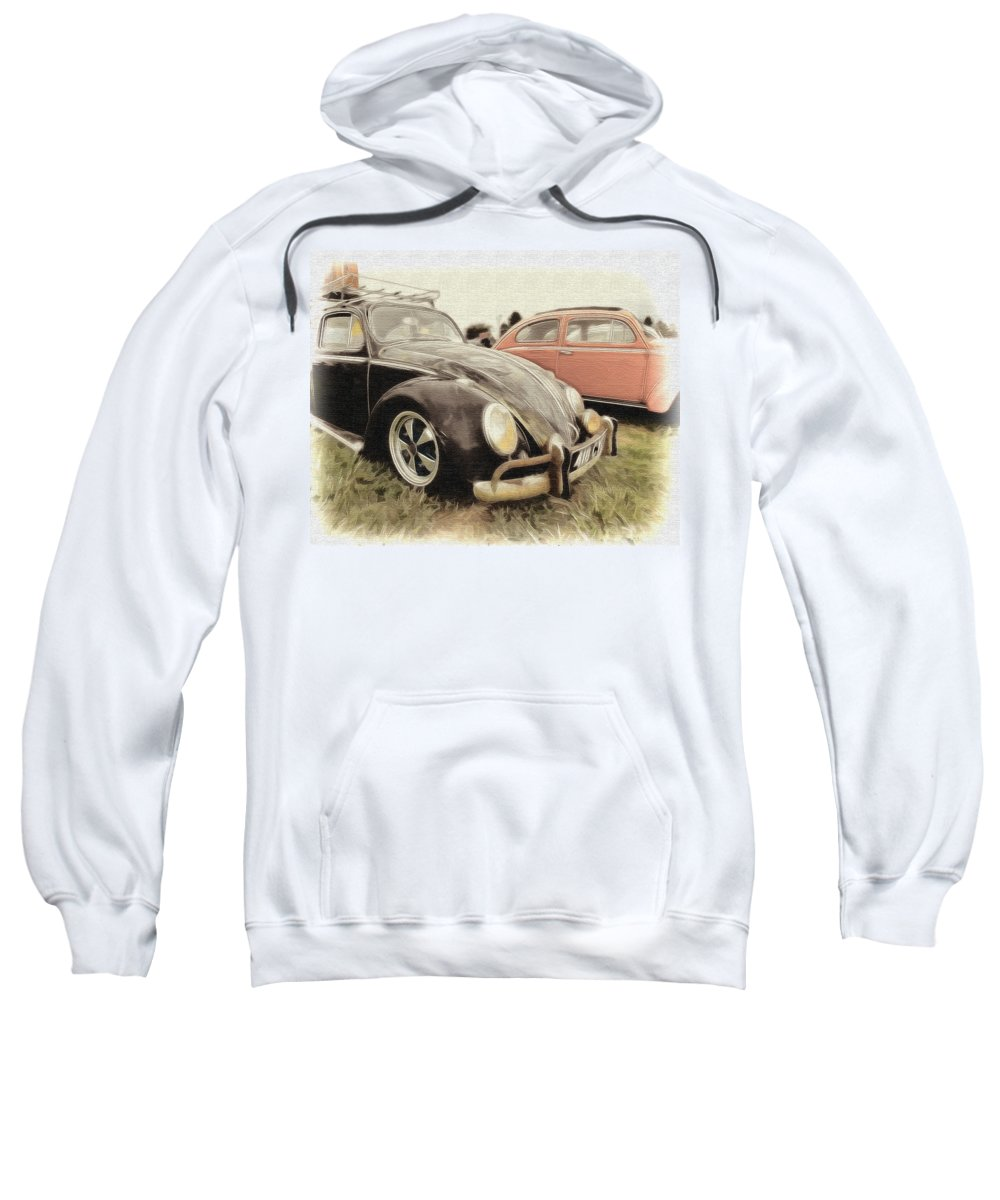 Volkswagen Sweatshirt featuring the photograph Black Vw by Steve McKinzie