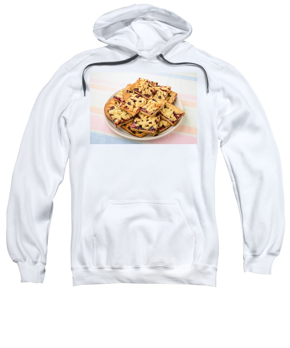 Cake Sweatshirt featuring the photograph Blackberry Grated Pie by Alain De Maximy