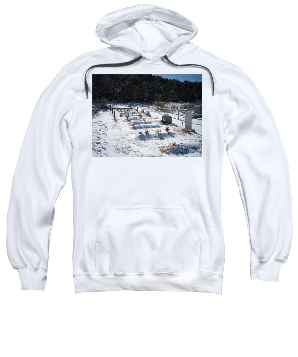 Cemetary Sweatshirt featuring the photograph Blanket by Jennifer Lavigne