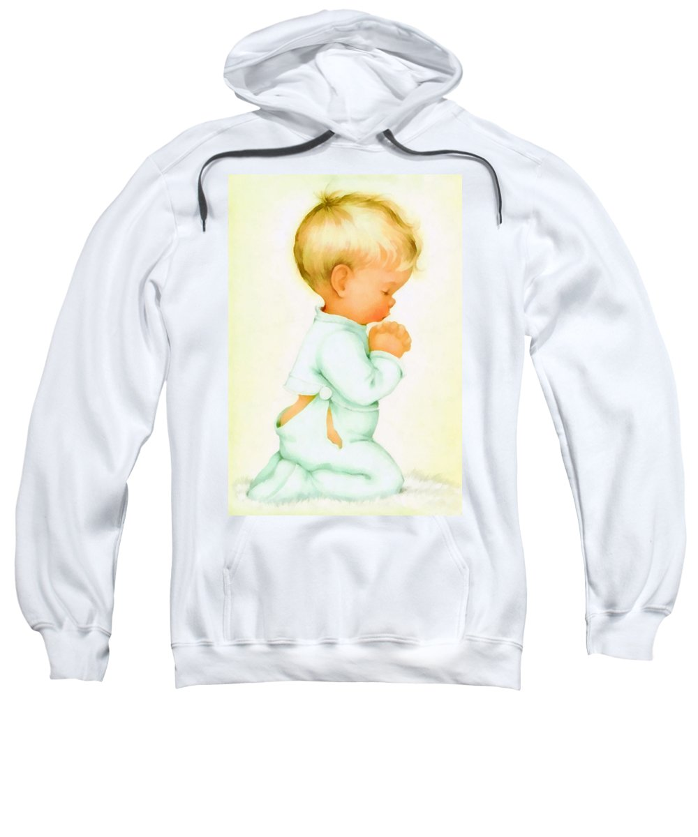 Charlotte Byj Sweatshirt featuring the digital art Bless Us All by Charlotte Byj