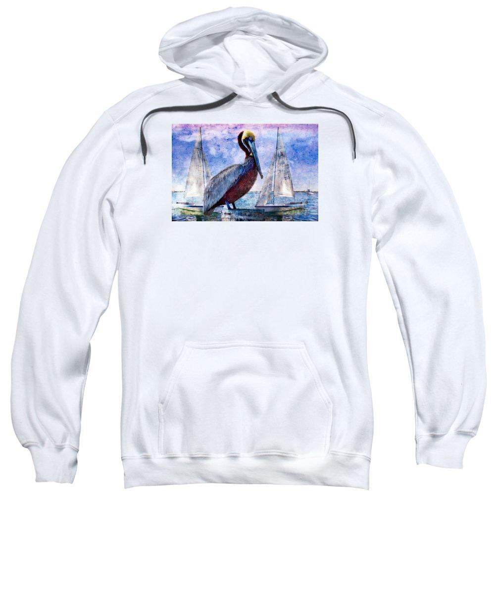 Animals Sweatshirt featuring the photograph Blue Boy by Debra and Dave Vanderlaan