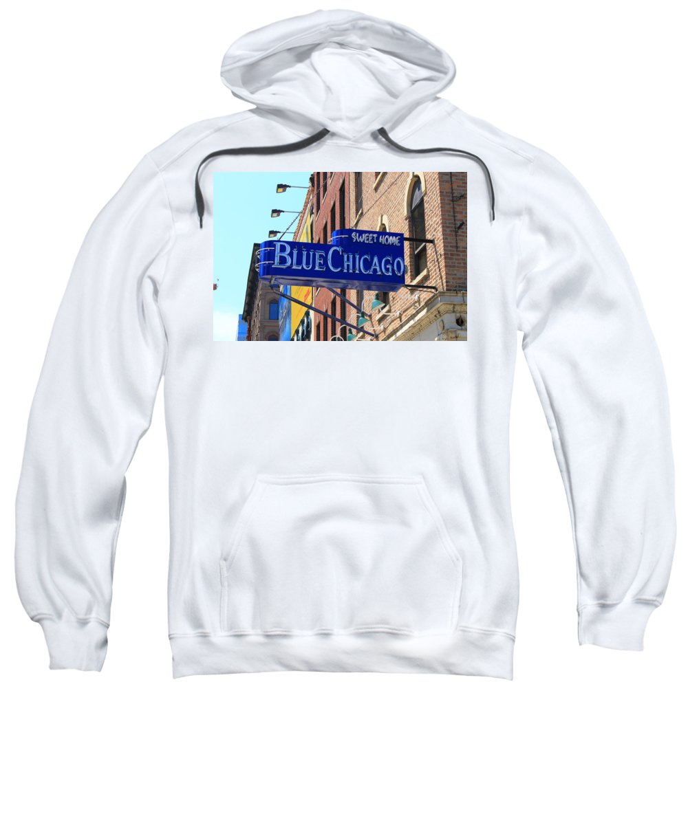 America Sweatshirt featuring the photograph Blue Chicago Club by Frank Romeo