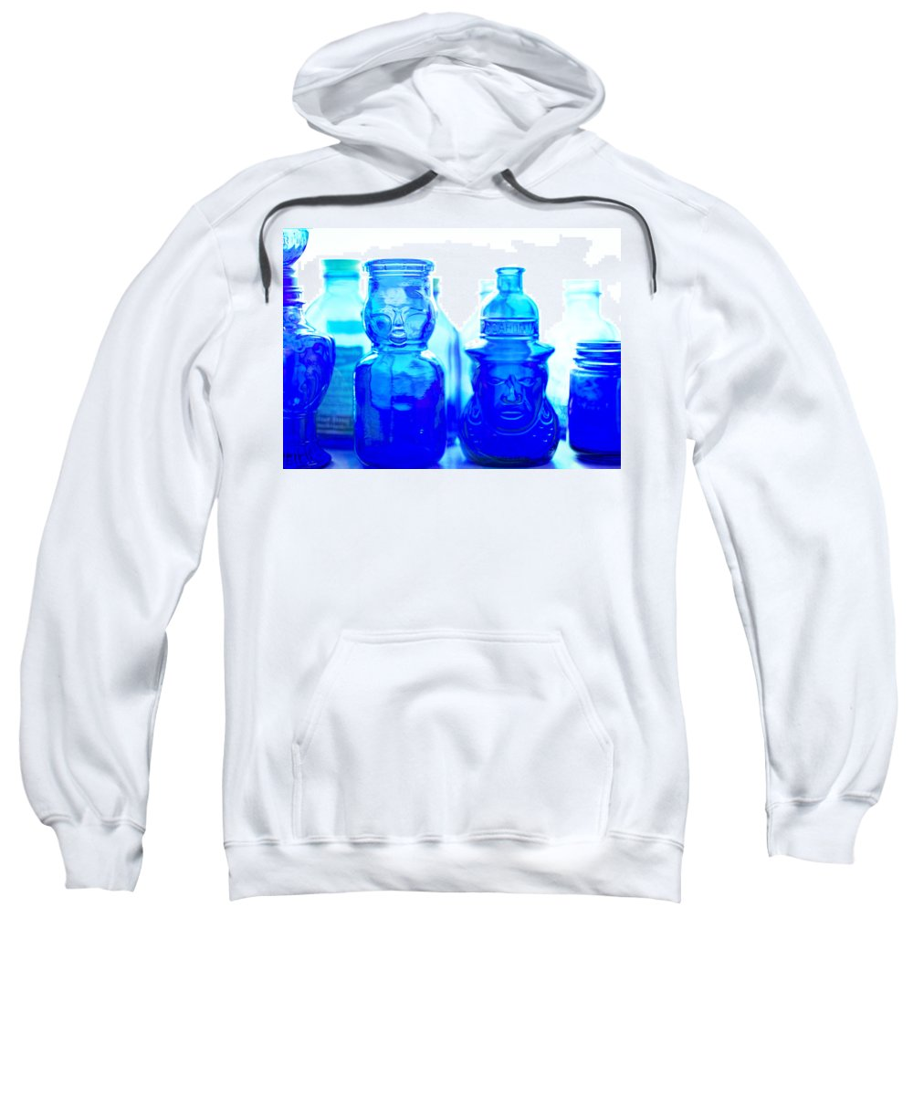 Cobalt Sweatshirt featuring the photograph Blue In The Face by Jon Woodhams