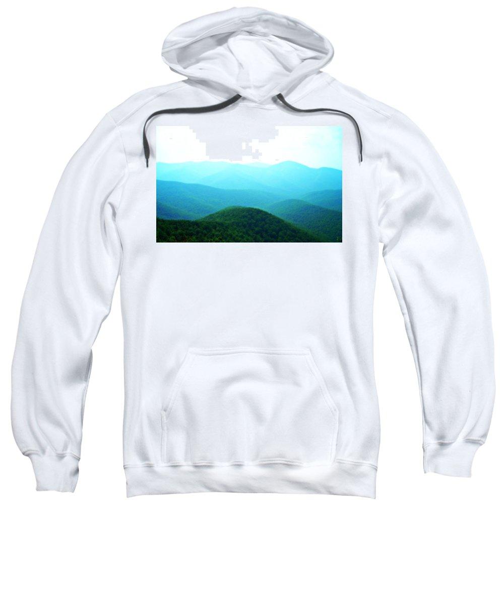 Mountains Sweatshirt featuring the photograph Blue Ridge Scene by Vicki Dreher