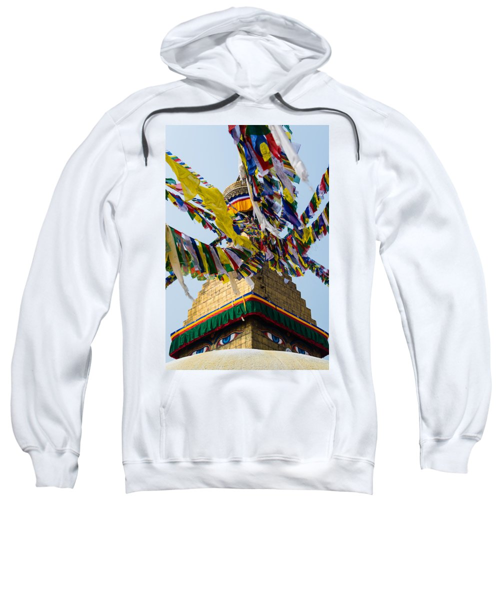 Religion Sweatshirt featuring the photograph Bodhnath by Dutourdumonde Photography