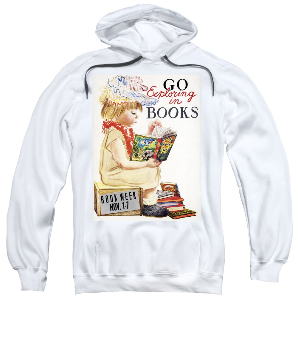 1961 Sweatshirt featuring the drawing Book Week, 1961 by Granger