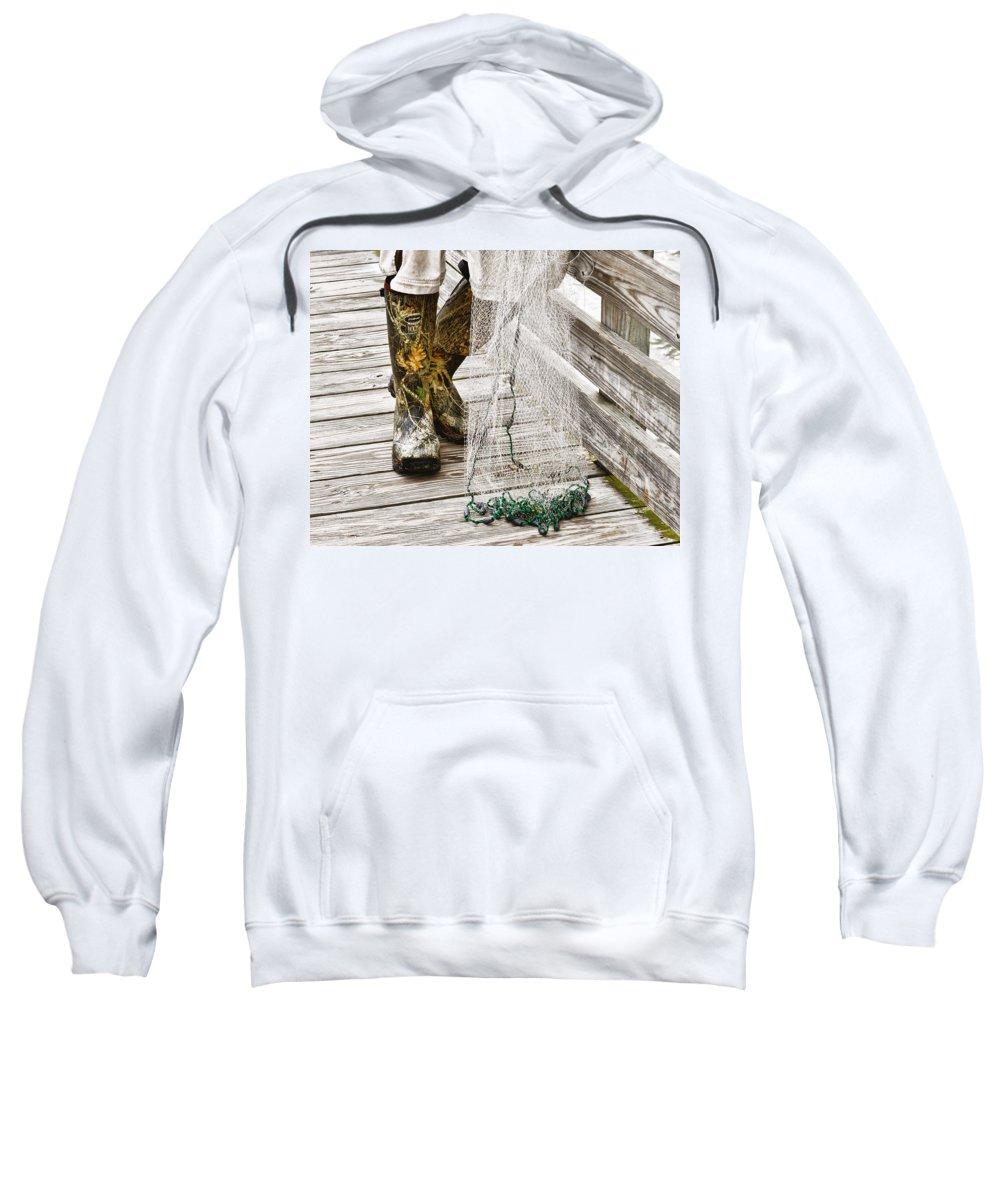 Fishing Sweatshirt featuring the photograph Boots by Randi Kuhne