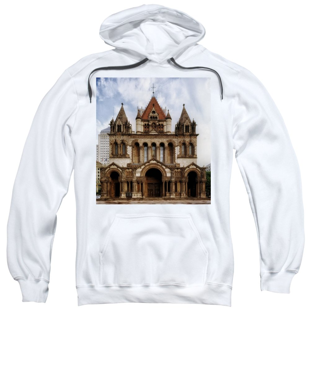 Boston Sweatshirt featuring the photograph Boston's Trinity Church by Mountain Dreams