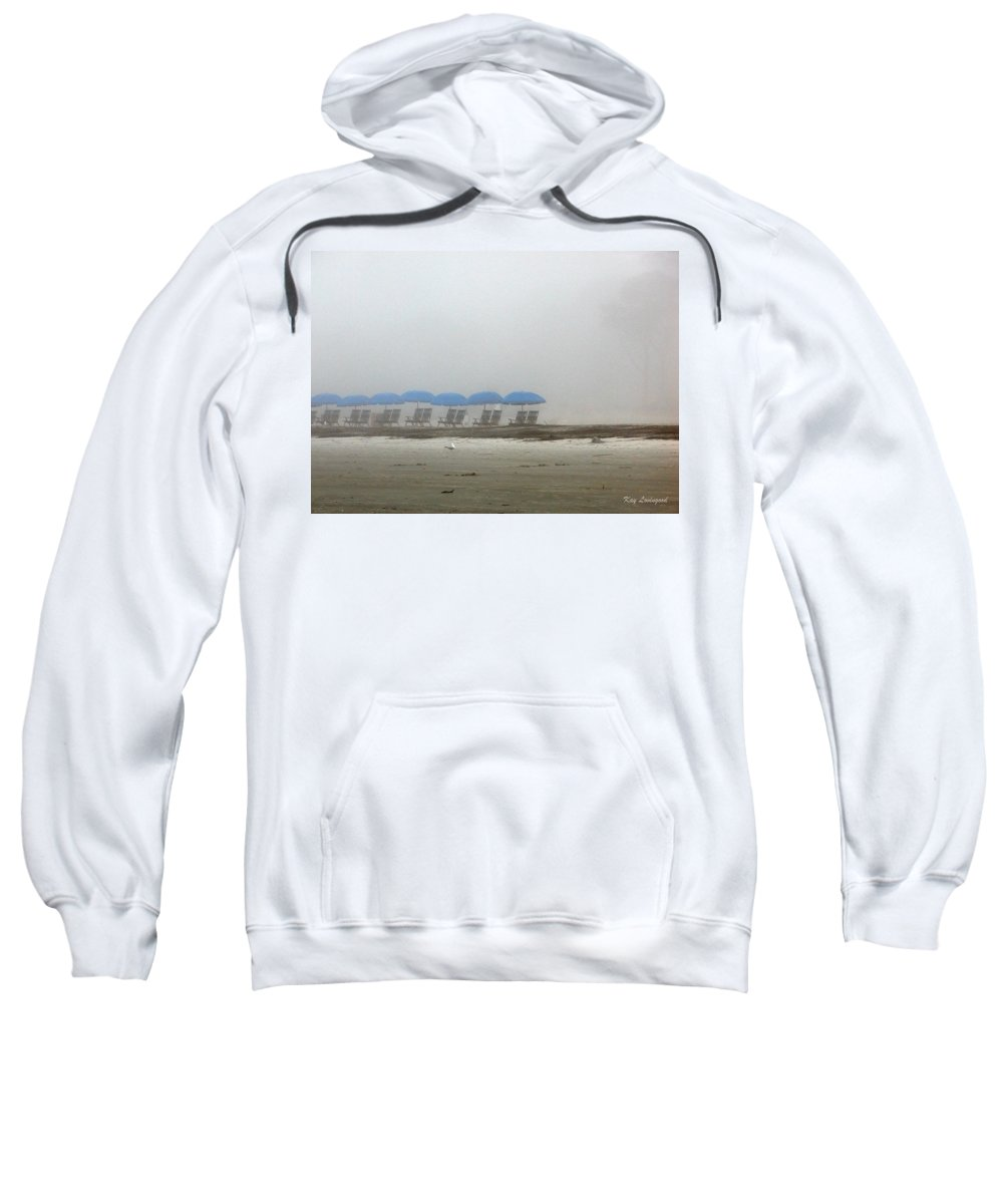Beach Sweatshirt featuring the photograph 'brella Pattern by Kay Lovingood