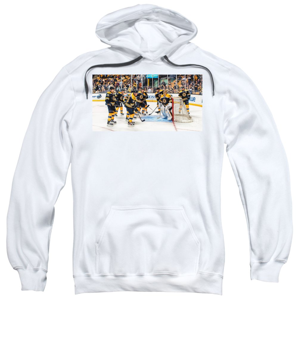 Boston Bruins Sweatshirt featuring the photograph B's Nest by Scott Thorp
