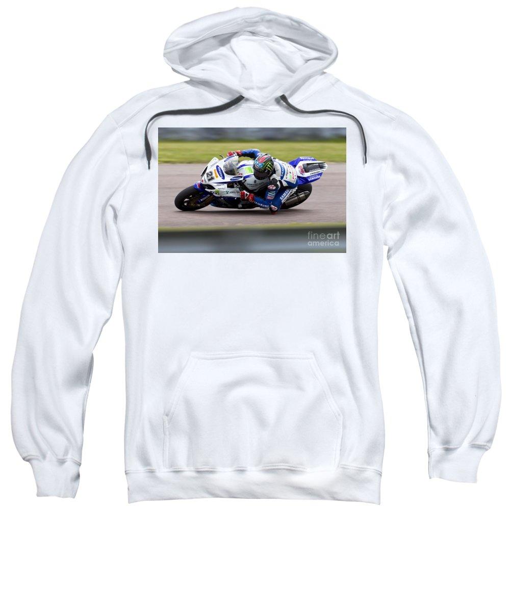 Superbike Sweatshirt featuring the photograph Bsb Superbike Rider John Hopkins by Andrew Harker