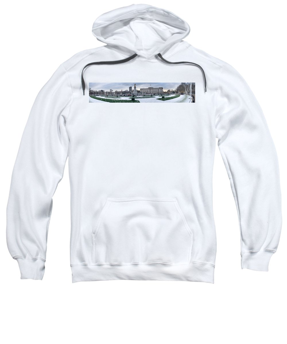 Photography Sweatshirt featuring the photograph Buckingham Palace In Winter, City by Panoramic Images