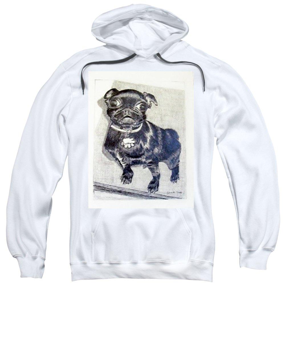 Rendering Sweatshirt featuring the drawing Buddy by Jamie Frier