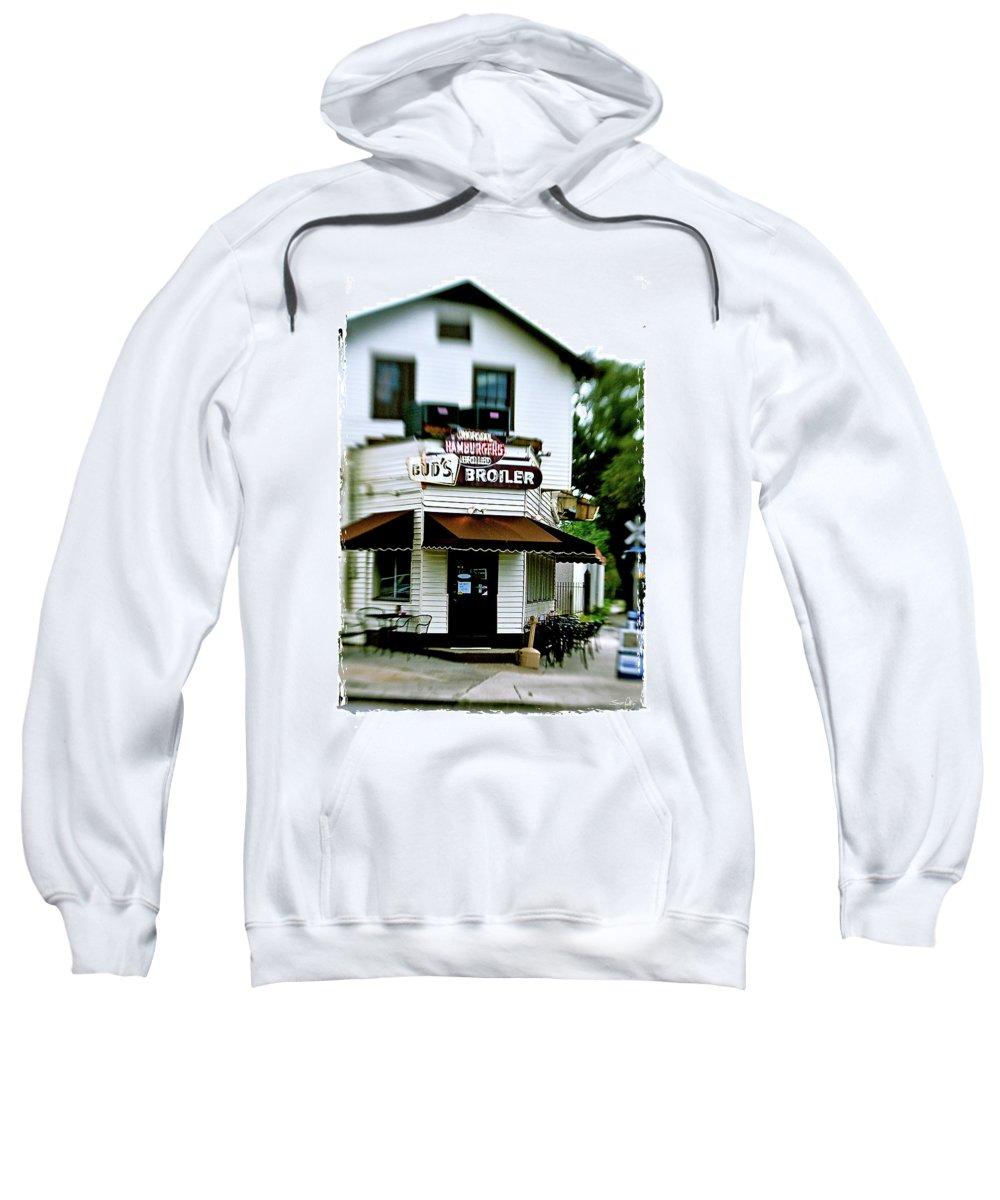 Restaurant Sweatshirt featuring the photograph Bud's Broiler - Frame by Scott Pellegrin