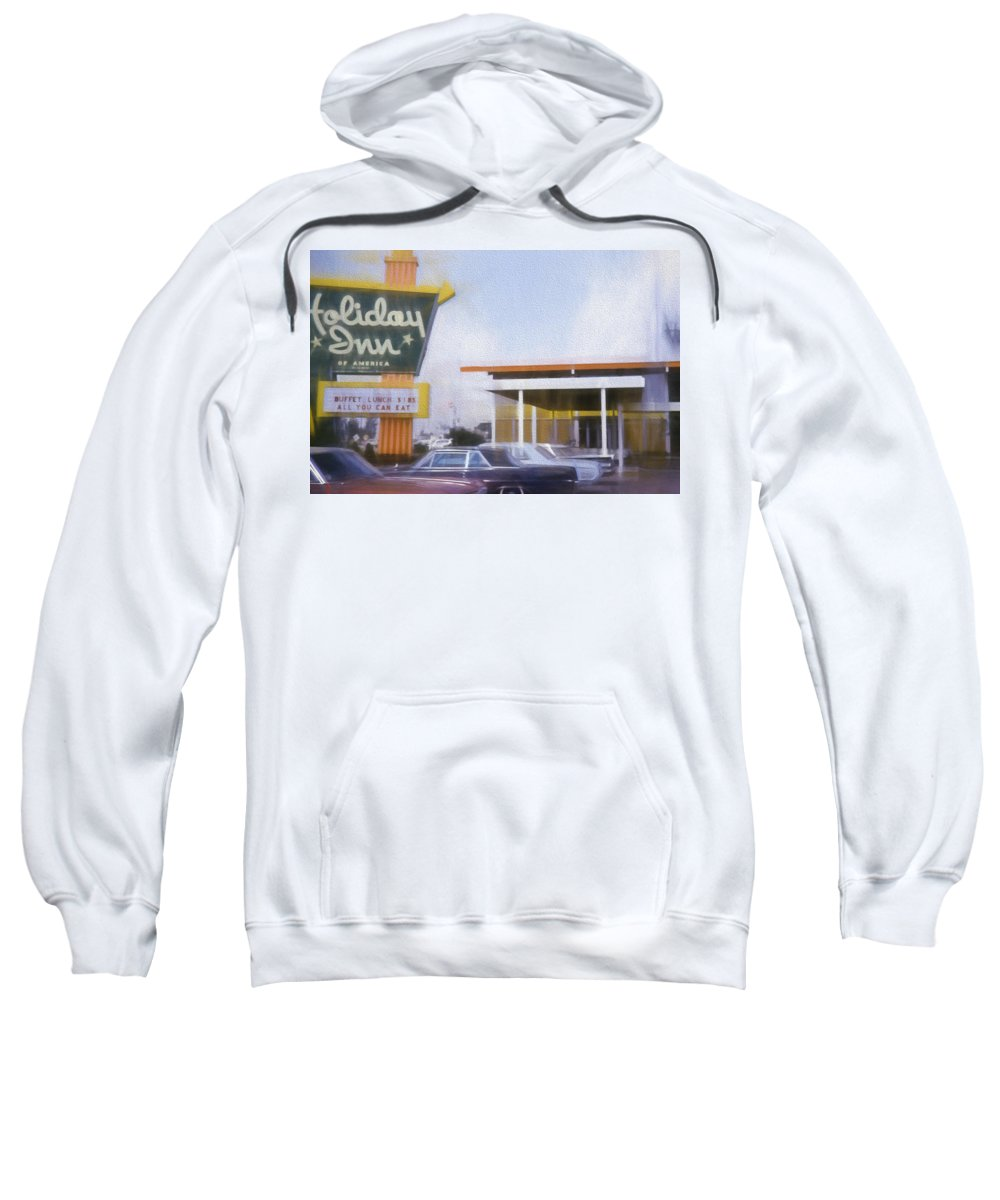 Buffet Lunch Sweatshirt featuring the digital art Buffet Lunch 1.85 by Cathy Anderson