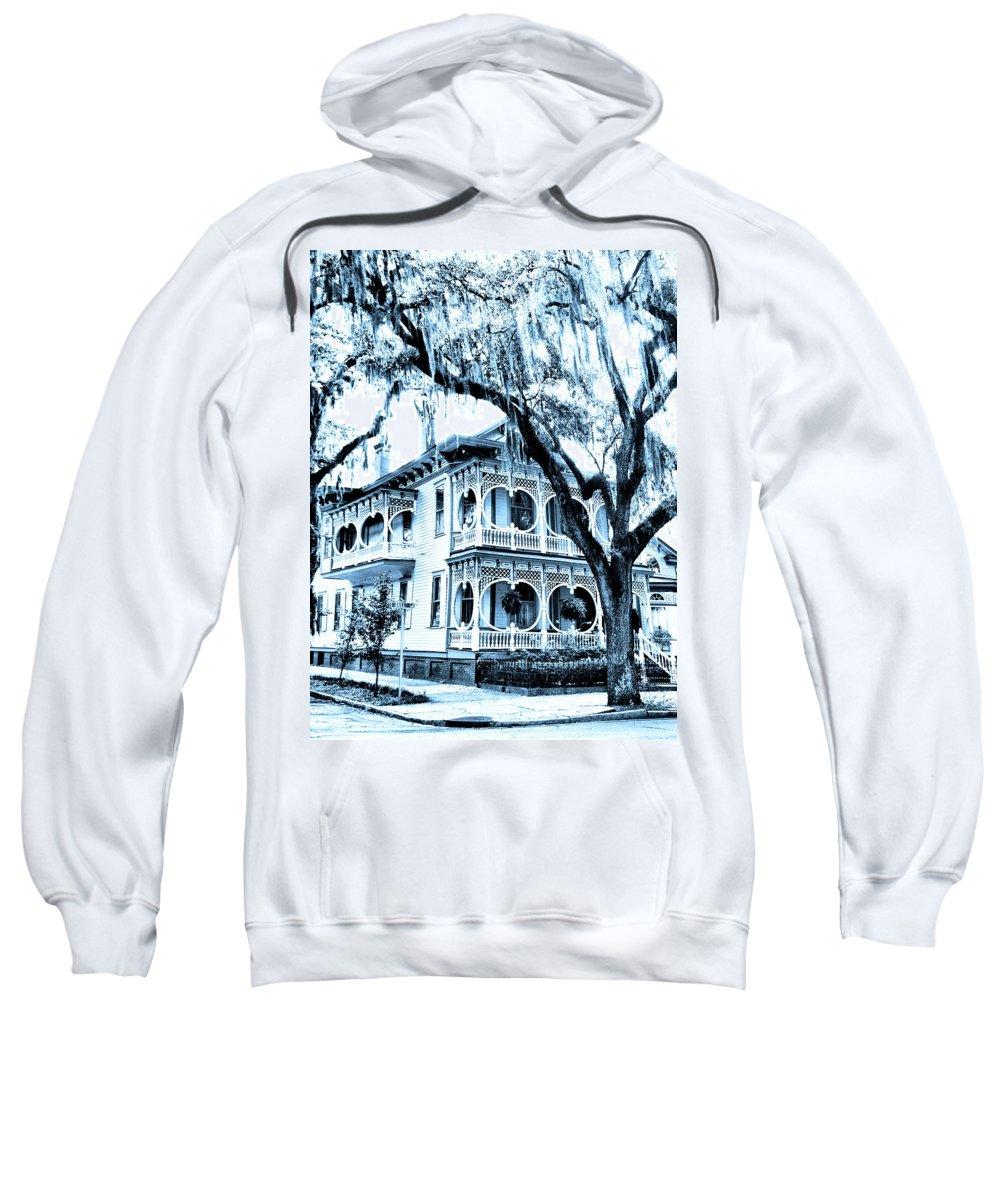 Savannah Sweatshirt featuring the photograph Bull Street House Savannah Ga by William Dey