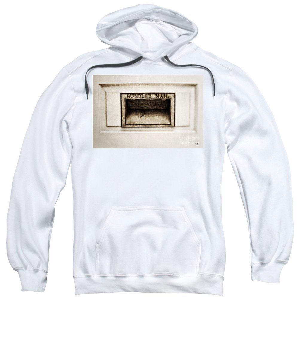 Mail Slot Sweatshirt featuring the photograph Bundled Mail by Scott Pellegrin