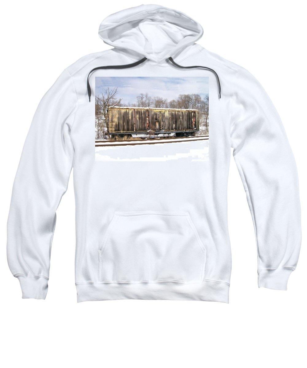Train Sweatshirt featuring the photograph Burnt by Sara Raber