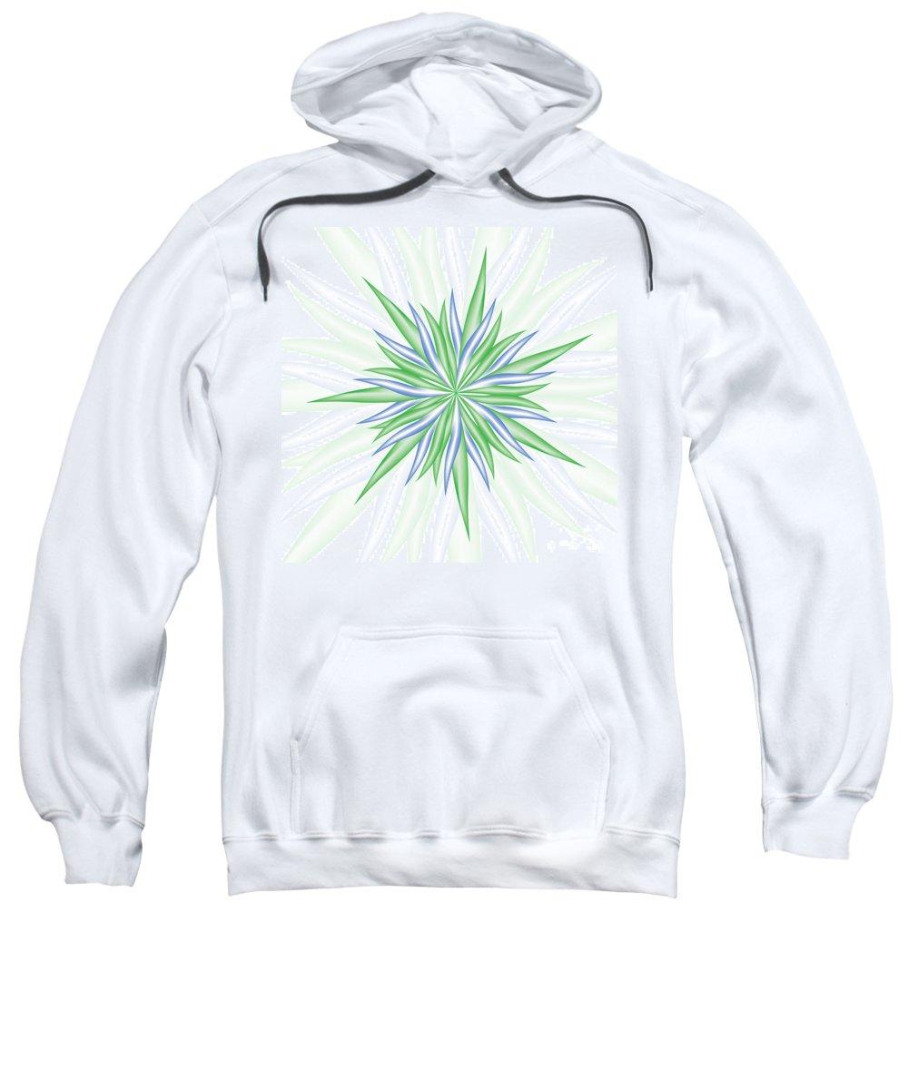 Jamie Lynn Gabrich Sweatshirt featuring the digital art Burst by Jamie Lynn