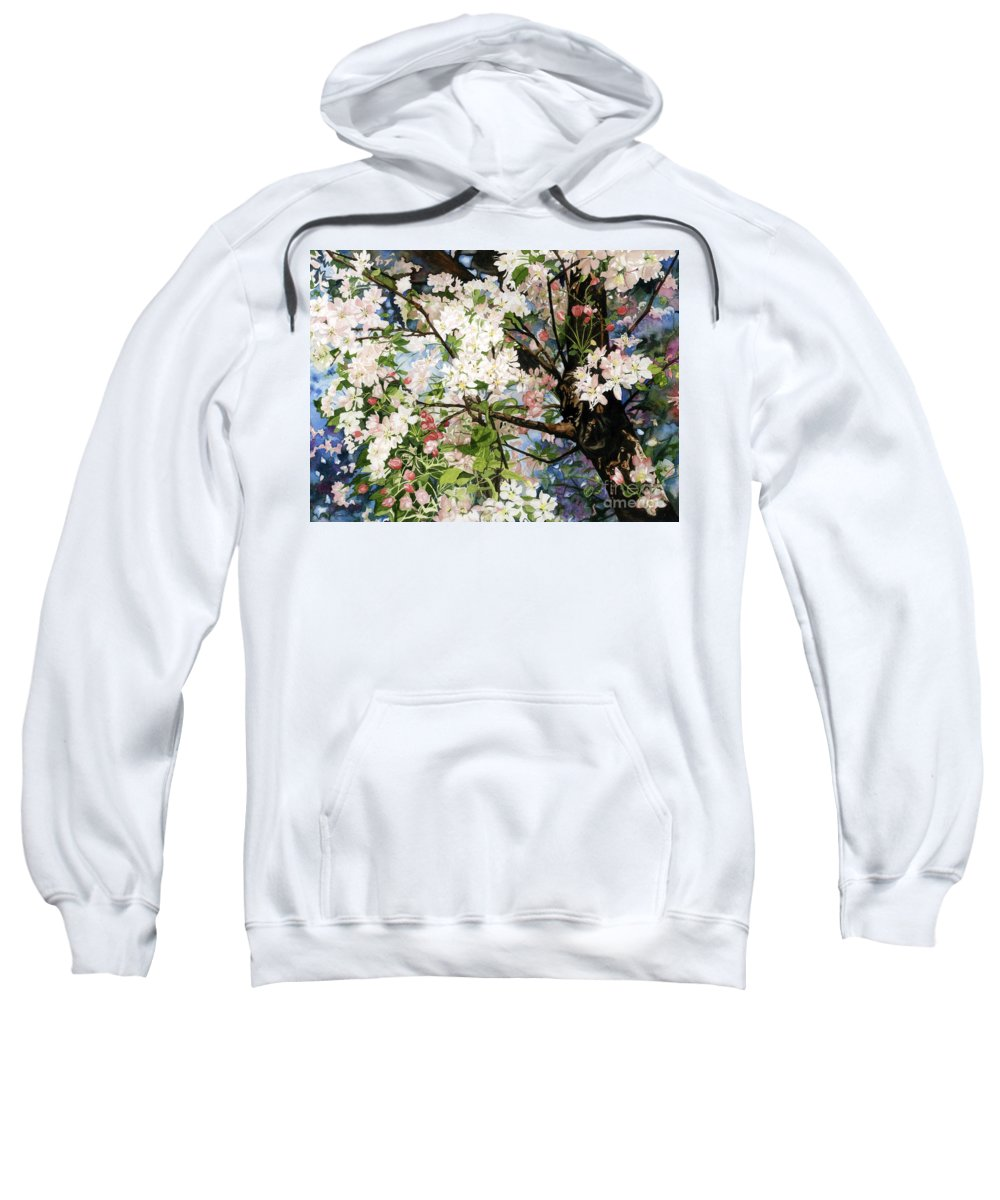 Flowers Sweatshirt featuring the painting Burst Of Spring by Barbara Jewell
