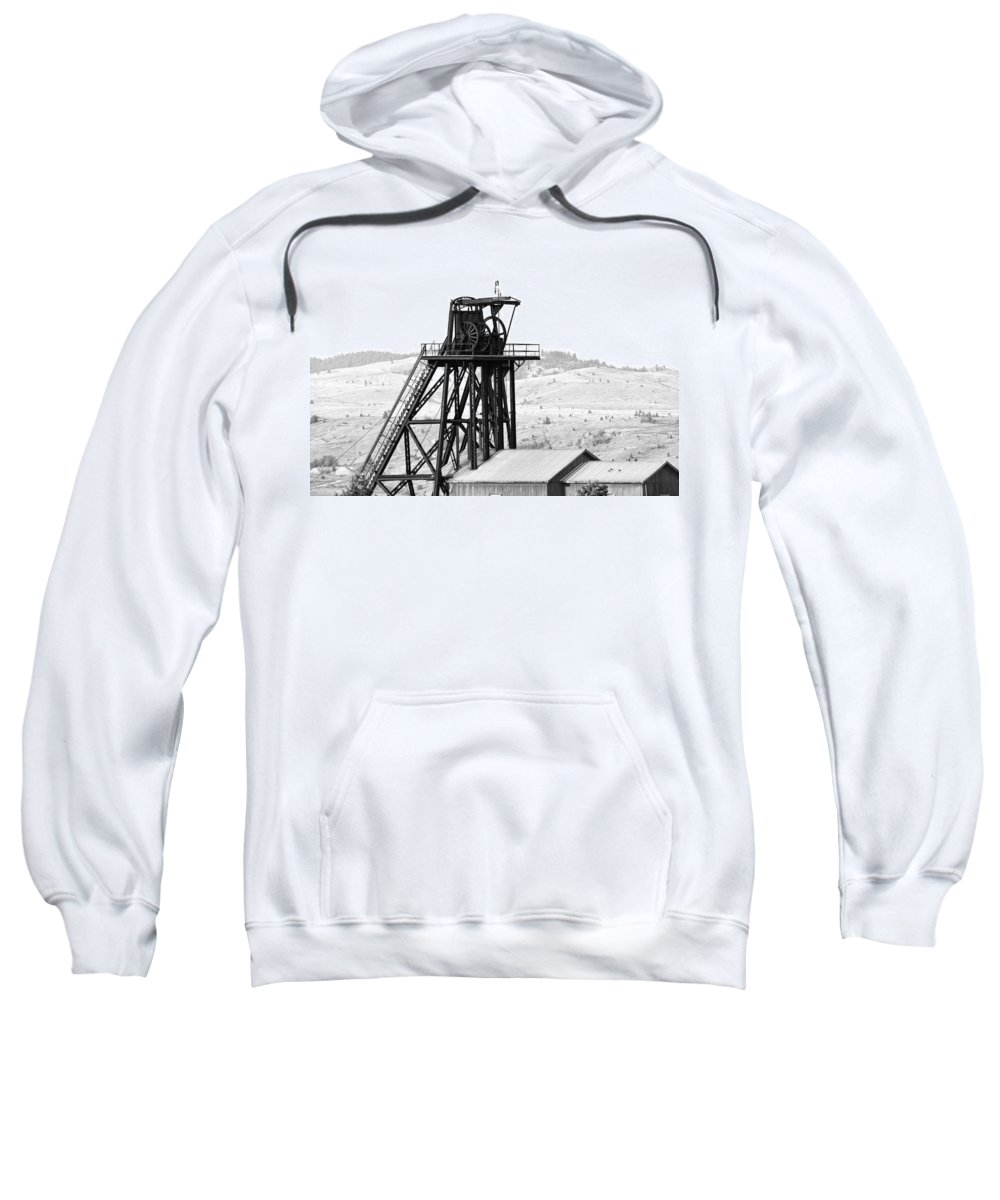 Butte Sweatshirt featuring the photograph Butte Mine Shaft by Image Takers Photography LLC - Carol Haddon
