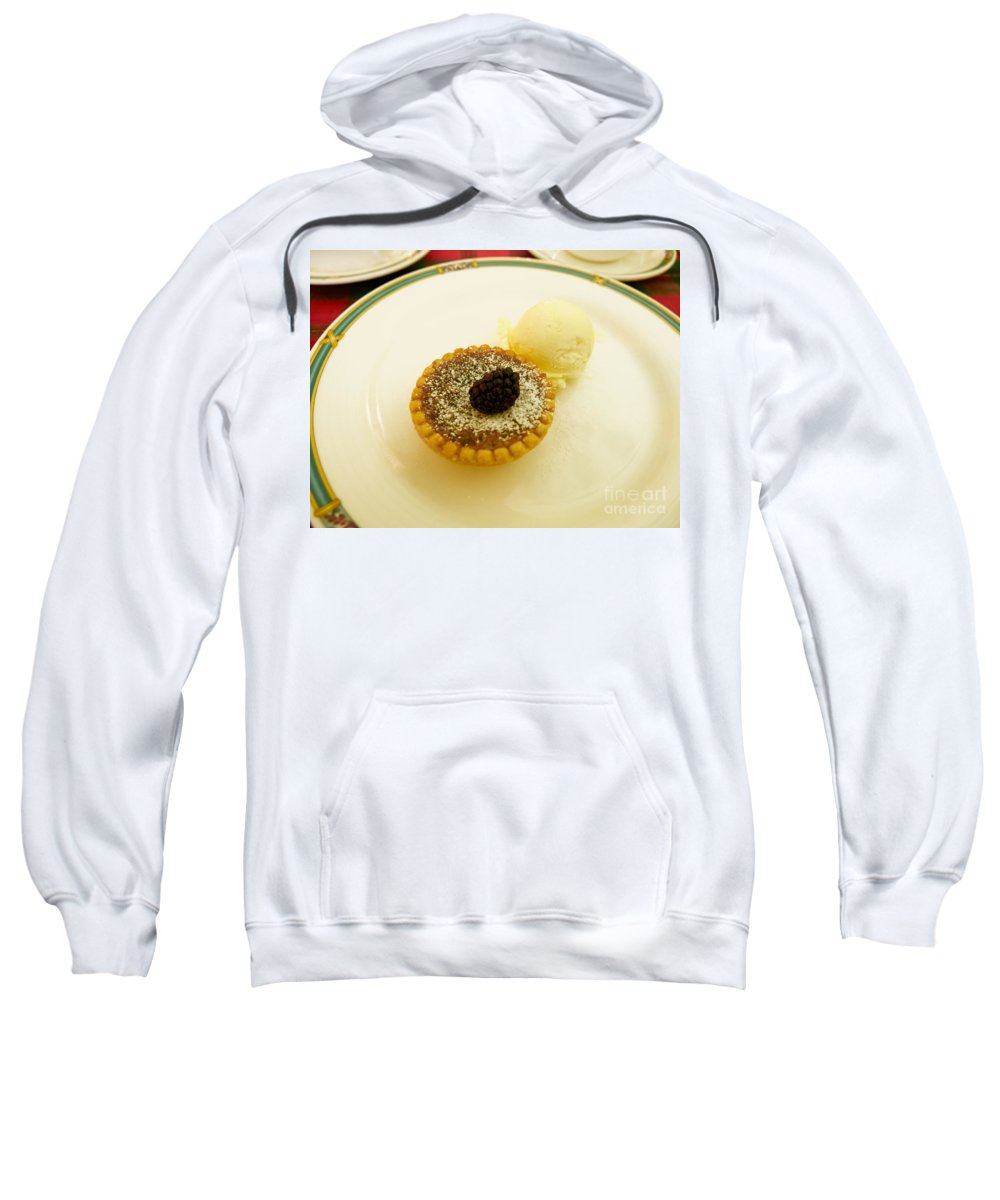 Butter Sweatshirt featuring the photograph Butter Tart With Ice Cream by Louise Heusinkveld