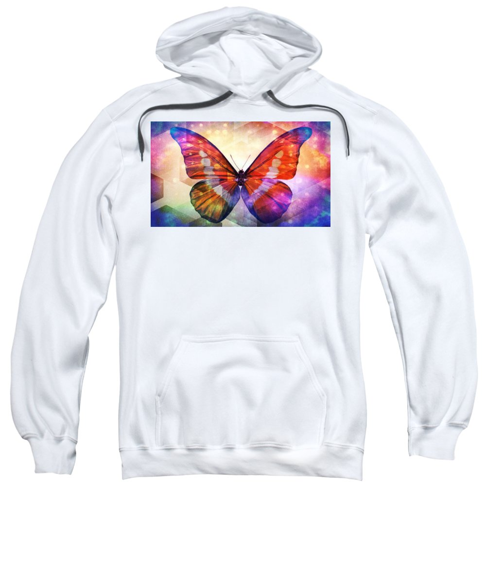 Butterfly 14-1 Sweatshirt featuring the photograph Butterfly 14-1 by Maria Urso