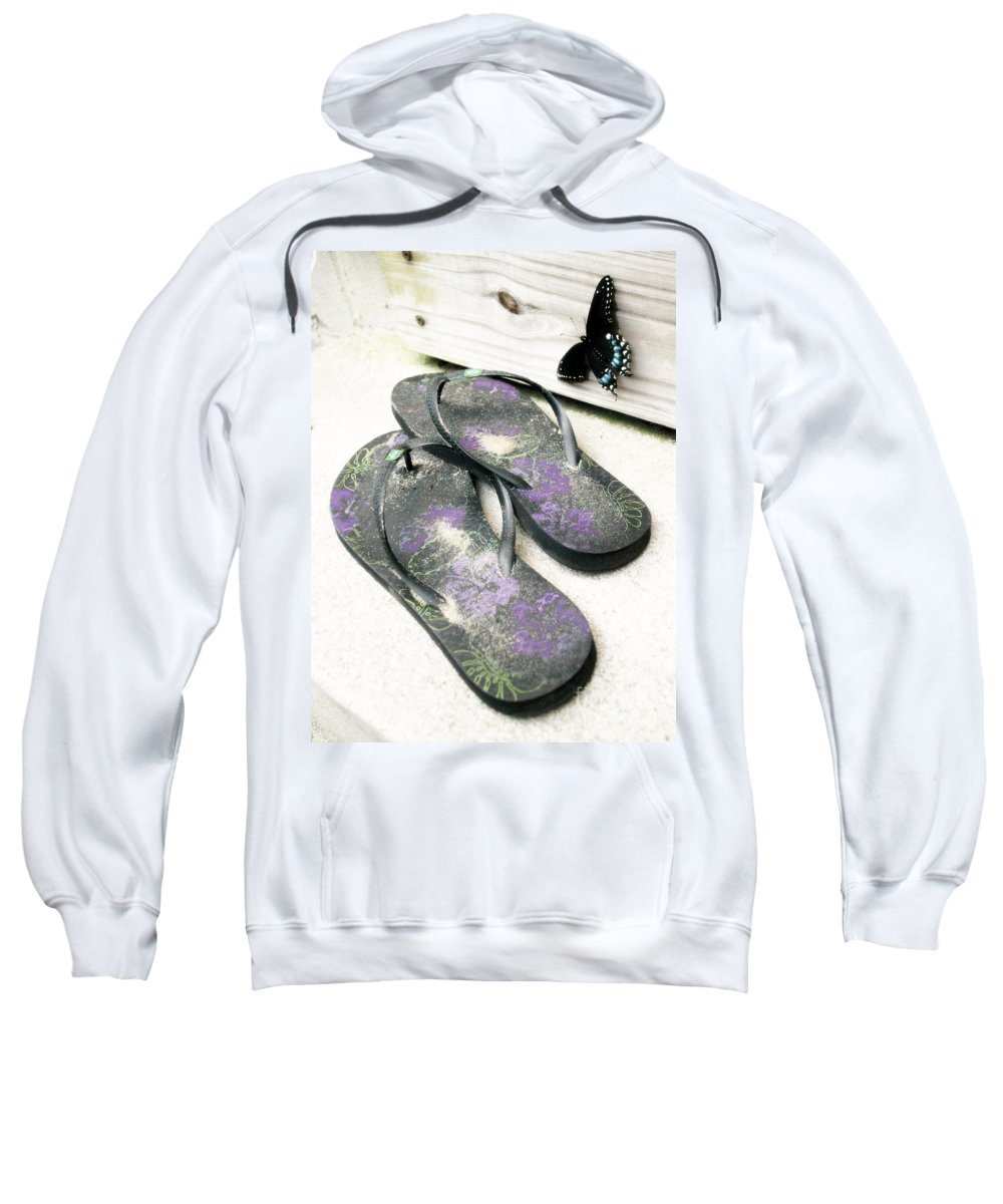 Butterfly Sweatshirt featuring the photograph Butterfly Summer by Angela DeFrias