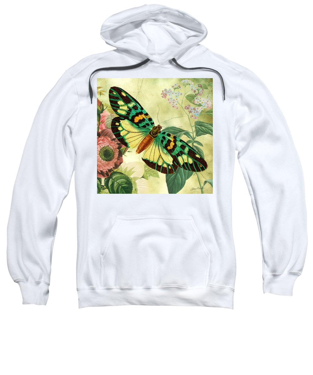 Digital Art Sweatshirt featuring the digital art Butterfly Visions-a by Jean Plout