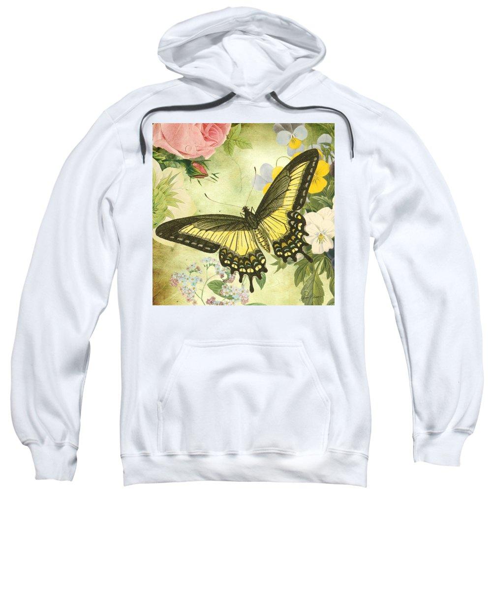 Digital Art Sweatshirt featuring the digital art Butterfly Visions-d by Jean Plout