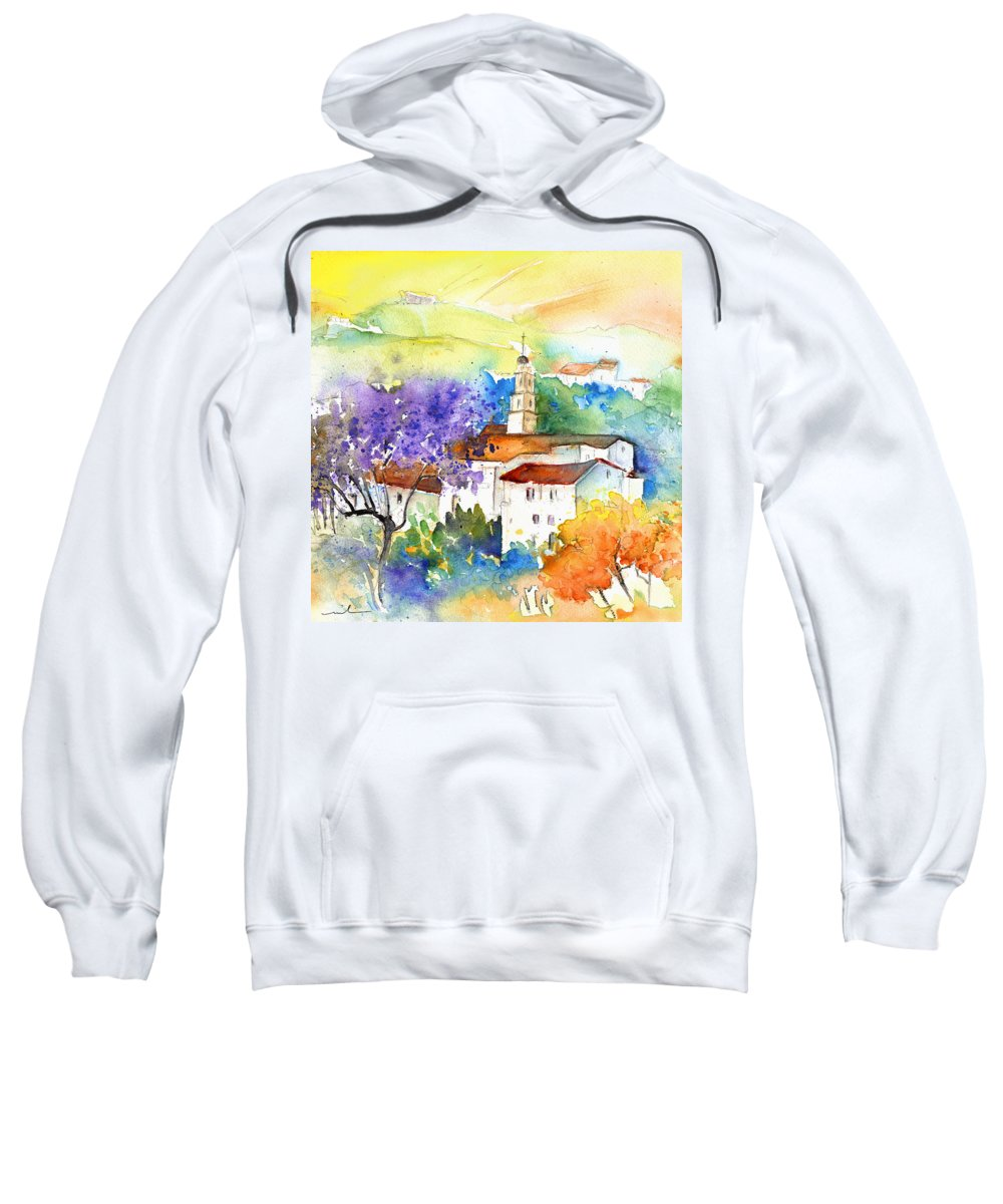 Travel Sweatshirt featuring the painting By Teruel Spain 02 by Miki De Goodaboom