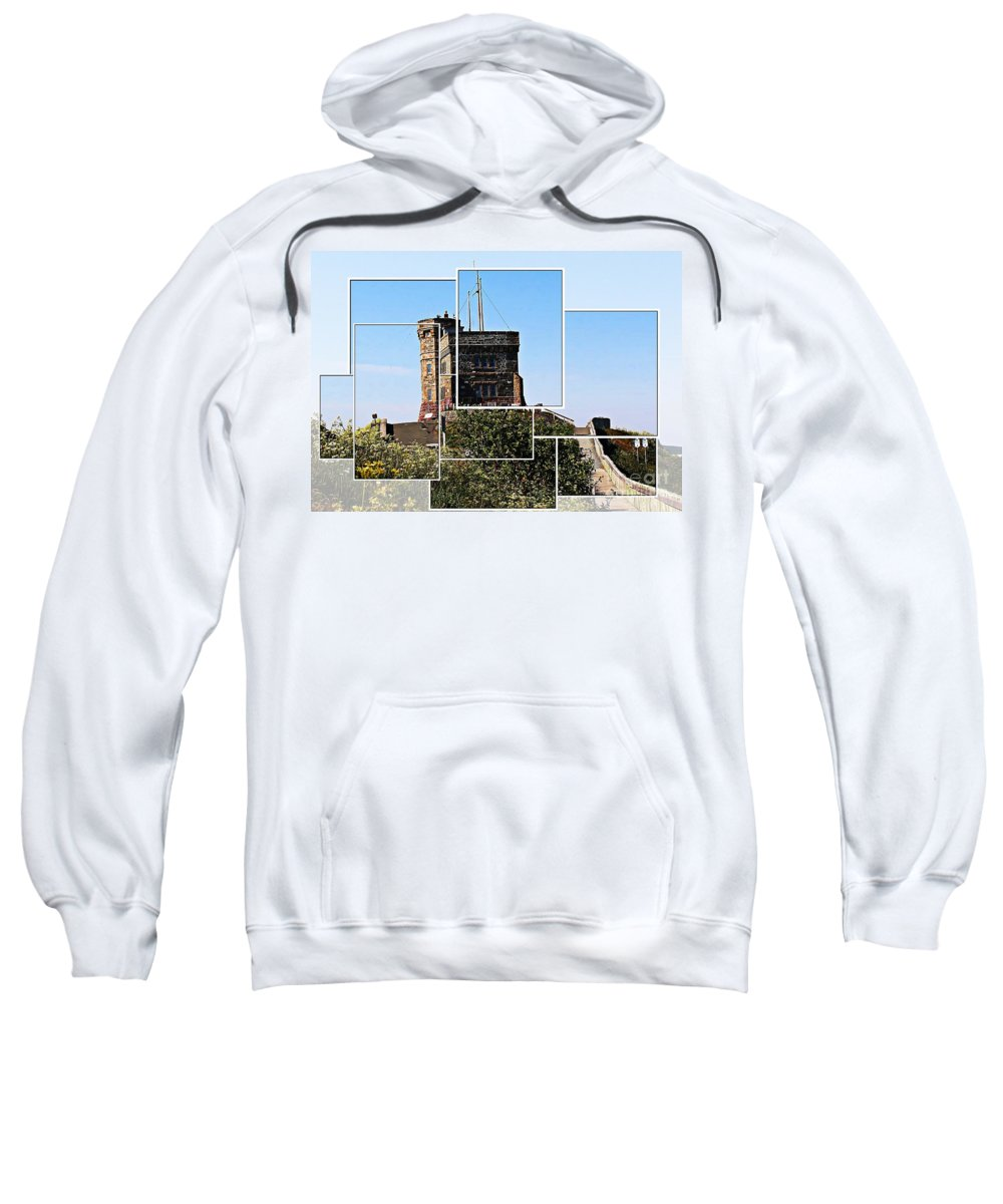 Cabot Tower Sweatshirt featuring the photograph Cabot Tower Montage by Barbara Griffin