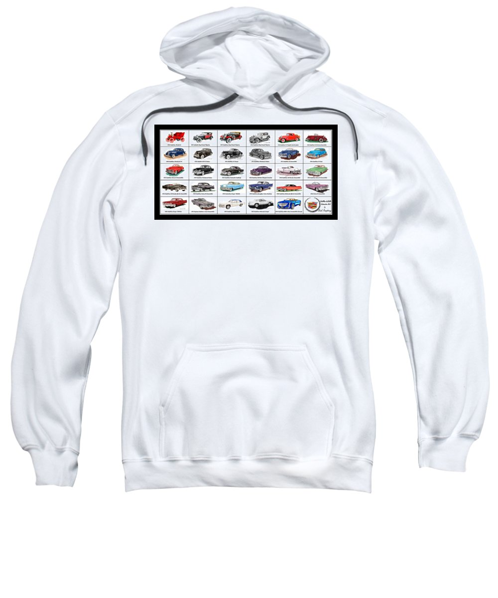Cadillac And Lasalle Artwork Sweatshirt featuring the painting Cadillac La Salle Automotive Poster by Jack Pumphrey