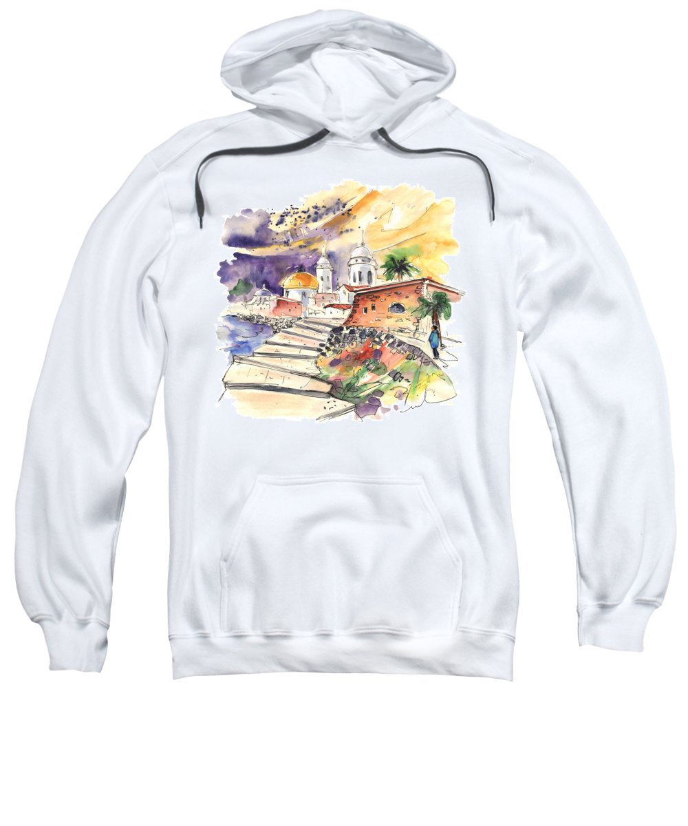 Travel Sweatshirt featuring the painting Cadiz Spain 01 by Miki De Goodaboom