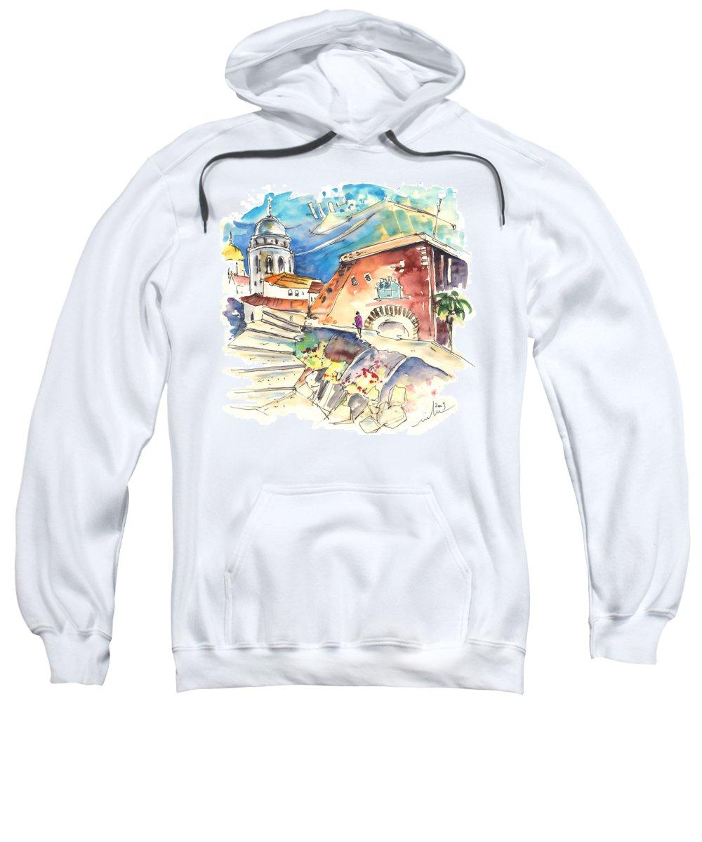 Travel Sweatshirt featuring the painting Cadiz Spain 03 by Miki De Goodaboom