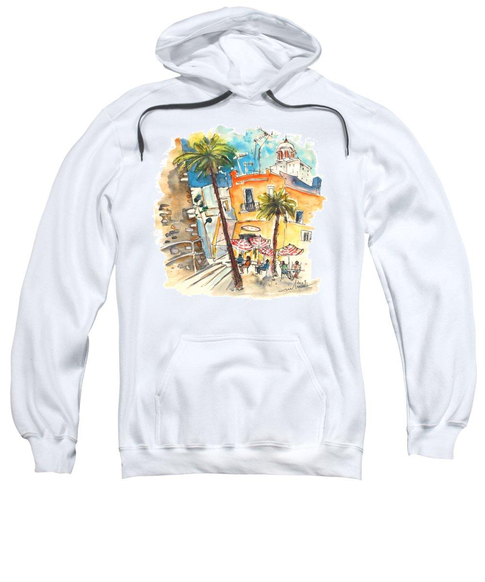 Travel Sweatshirt featuring the painting Cadiz Spain 04 by Miki De Goodaboom