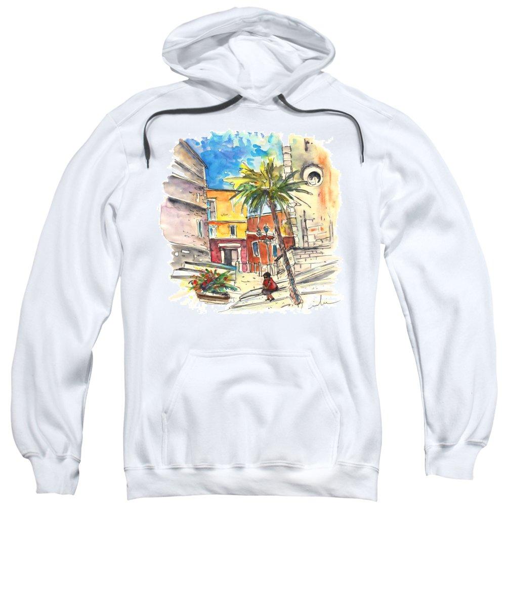 Travel Sweatshirt featuring the painting Cadiz Spain 05 by Miki De Goodaboom