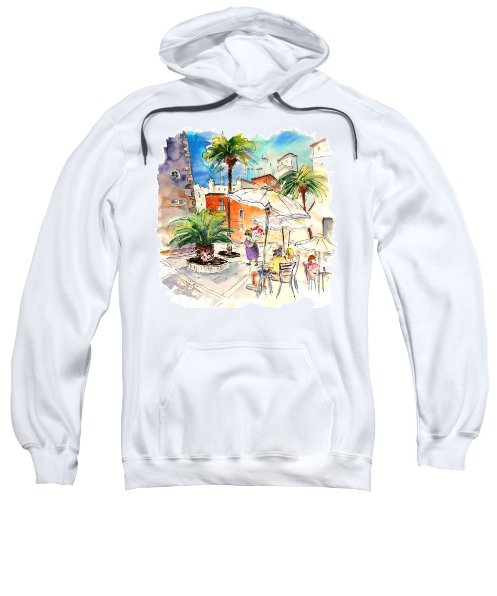 Travel Sweatshirt featuring the painting Cadiz Spain 13 by Miki De Goodaboom